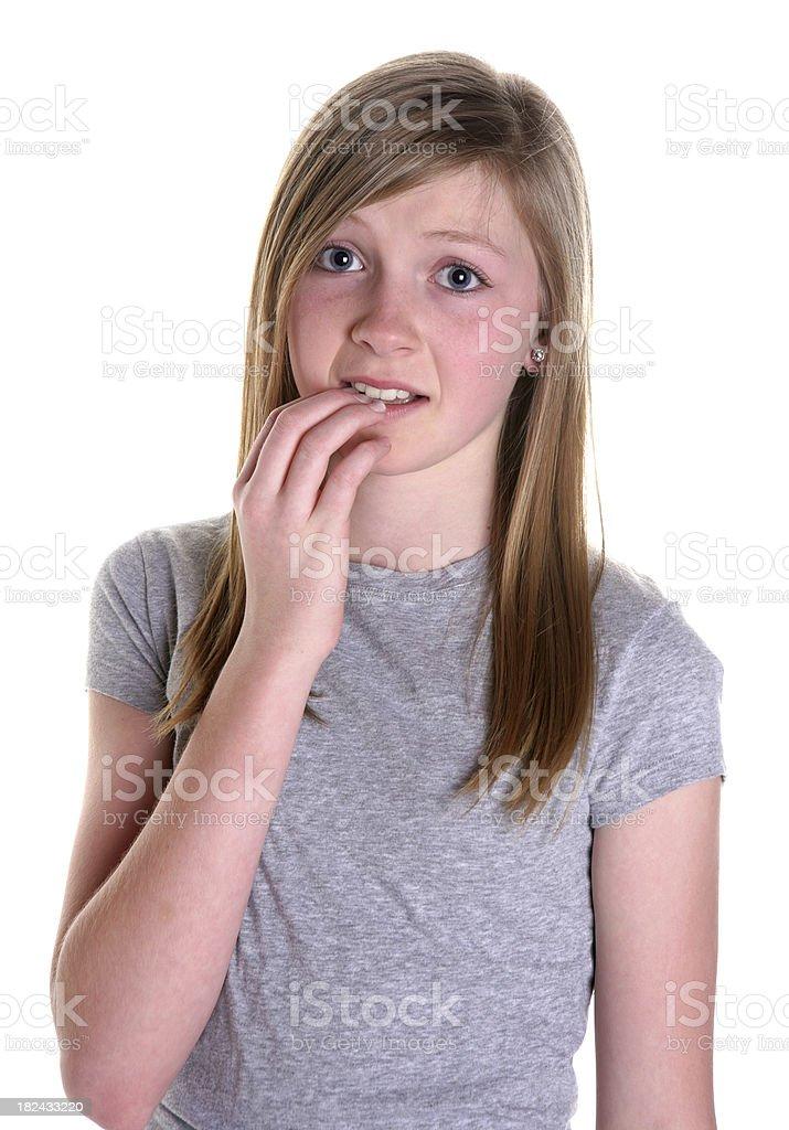 Nervous Girl royalty-free stock photo