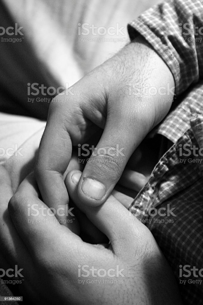 Nervous Hands royalty-free stock photo