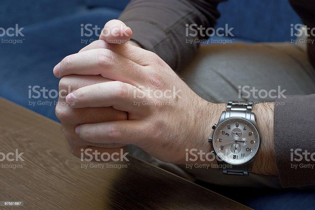 Nerveux les mains photo libre de droits
