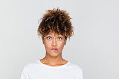 istock Nervous young african woman 1127919042