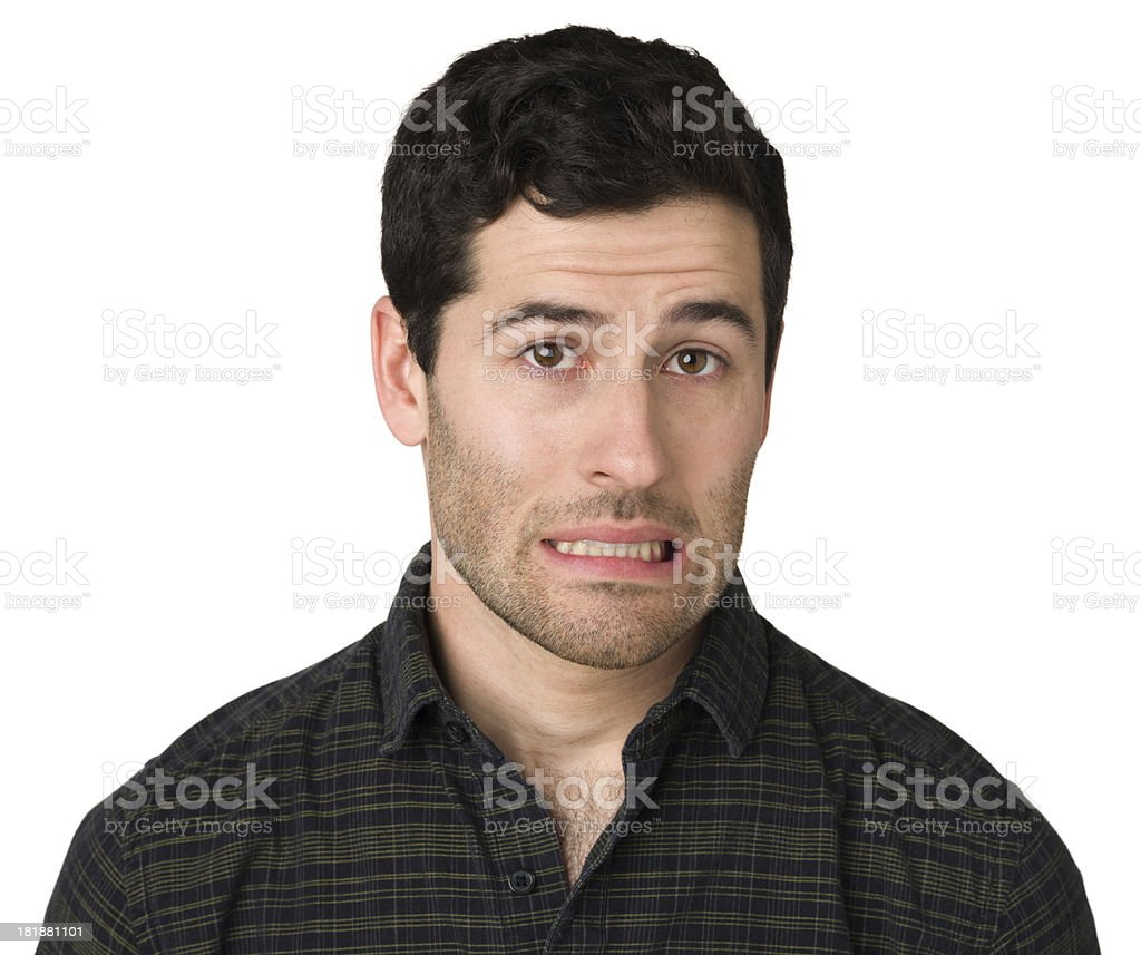 Nervous Young Man royalty-free stock photo