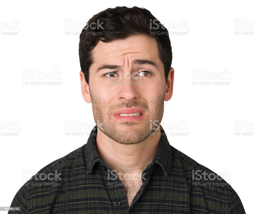 Nervous Young Man stock photo