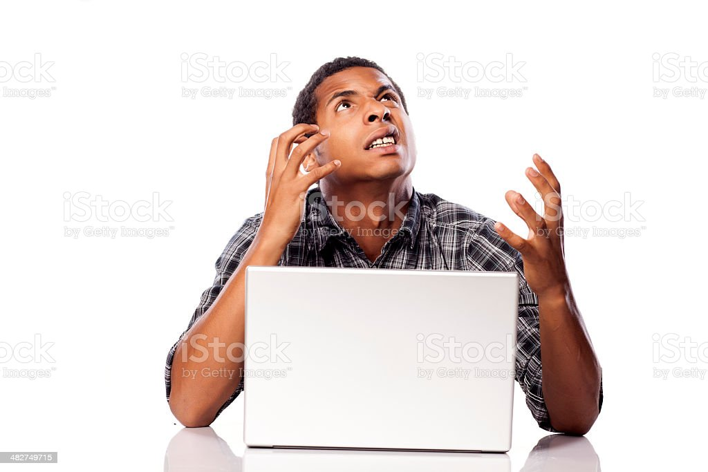 nervousness and despair royalty-free stock photo