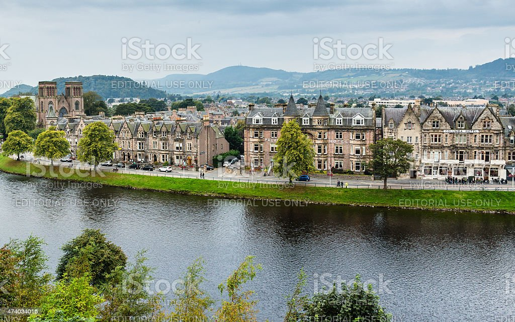 Ness Walk in Inverness stock photo