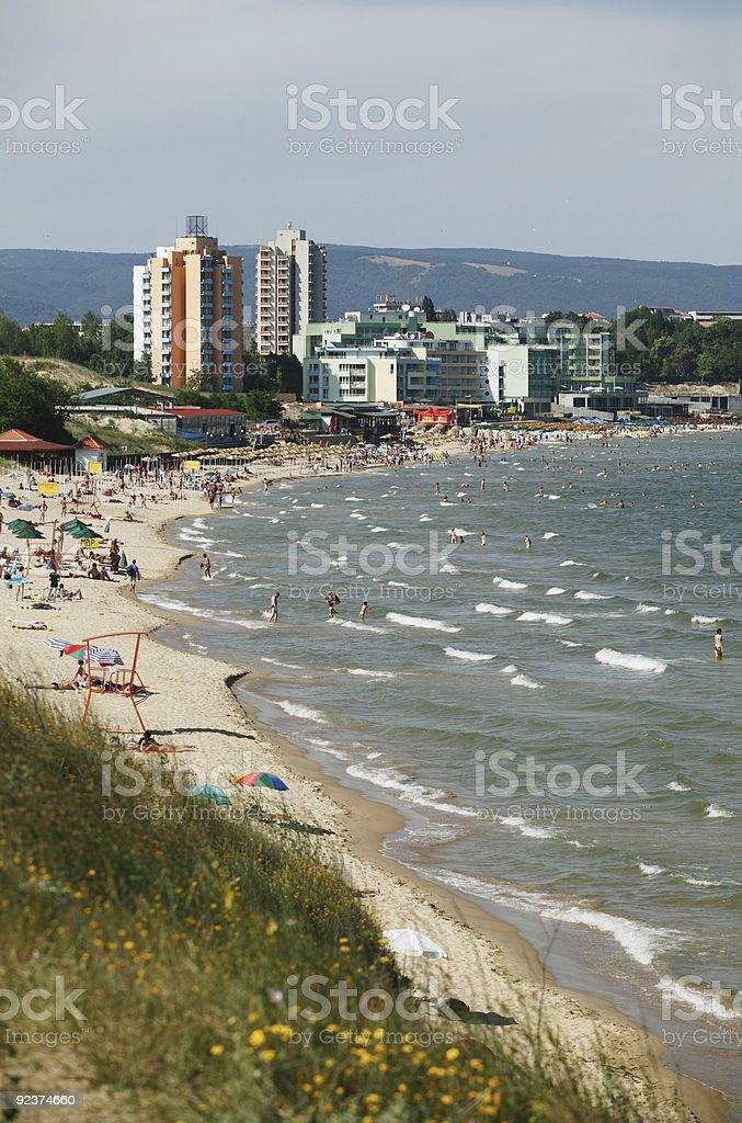 Nessebar beach royalty-free stock photo