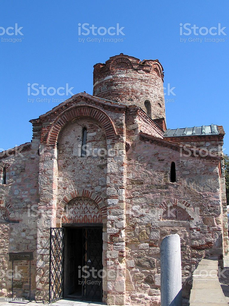 Nessebar Temple With Pillar stock photo
