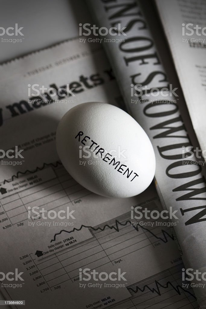Nest Egg in Recession royalty-free stock photo