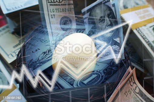 Nest Egg Investments Growing For Retirement High Quality Stock Photo