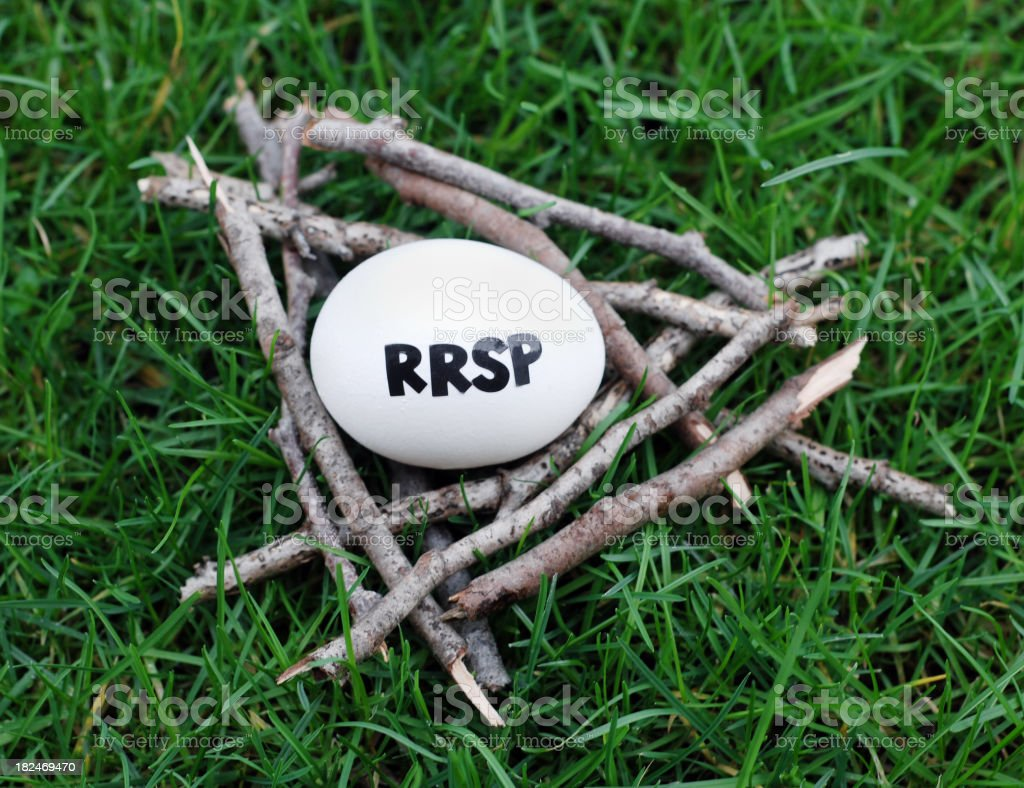 RRSP Nest Egg stock photo