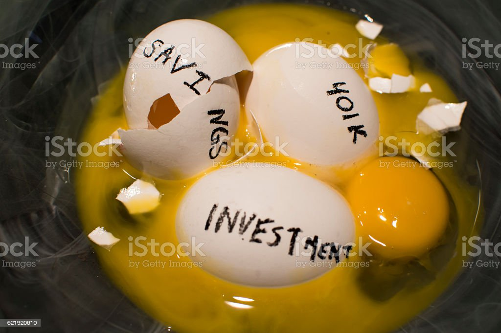 Nest Egg Savings Investments Protecting Money 401k stock photo
