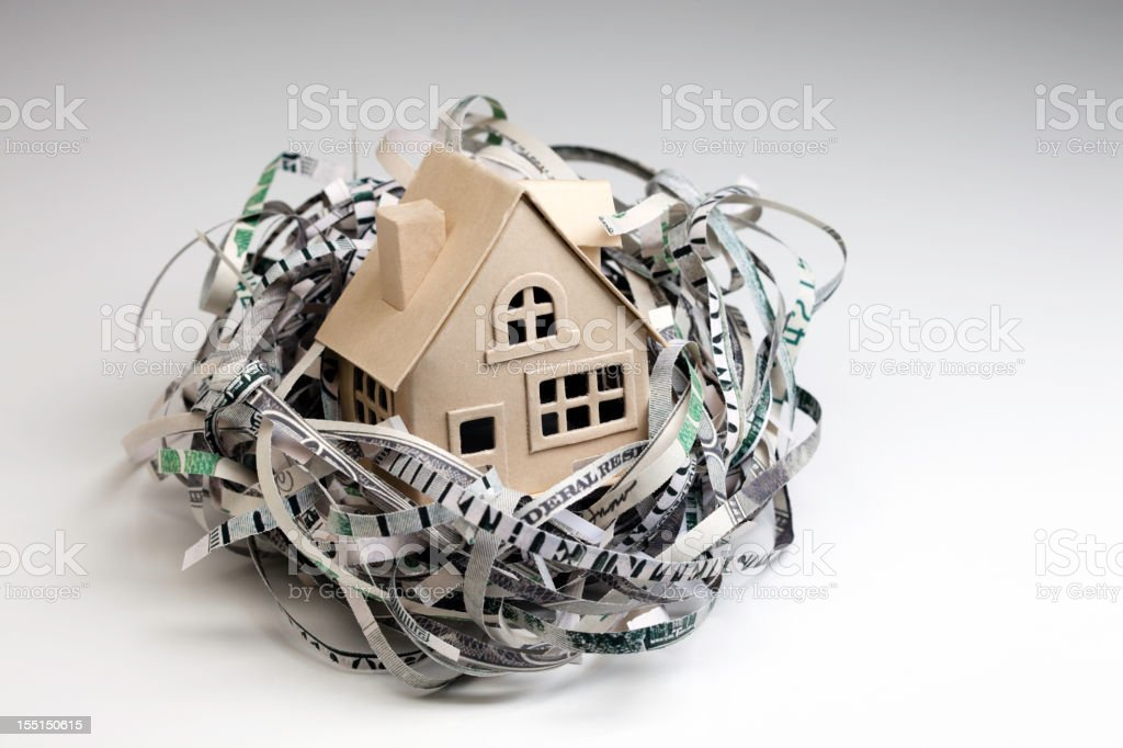 Nest Egg with House stock photo