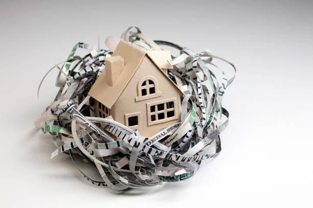 nido de huevo con house - embargo hipotecario fotografías e imágenes de stock