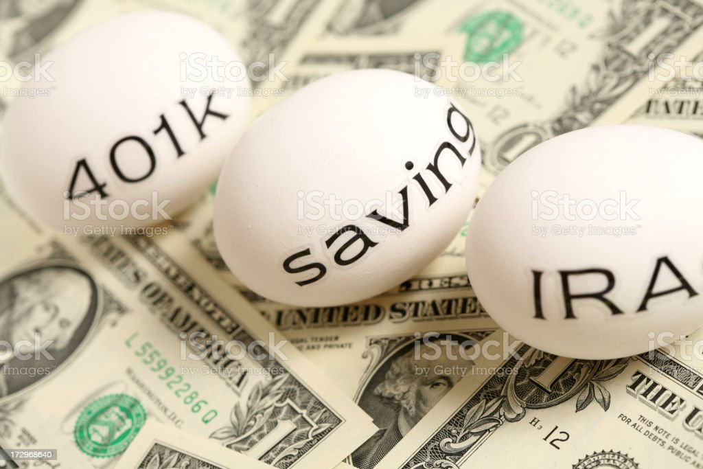 Nest Eggs (cash) royalty-free stock photo