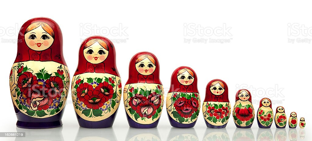 Nested doll royalty-free stock photo