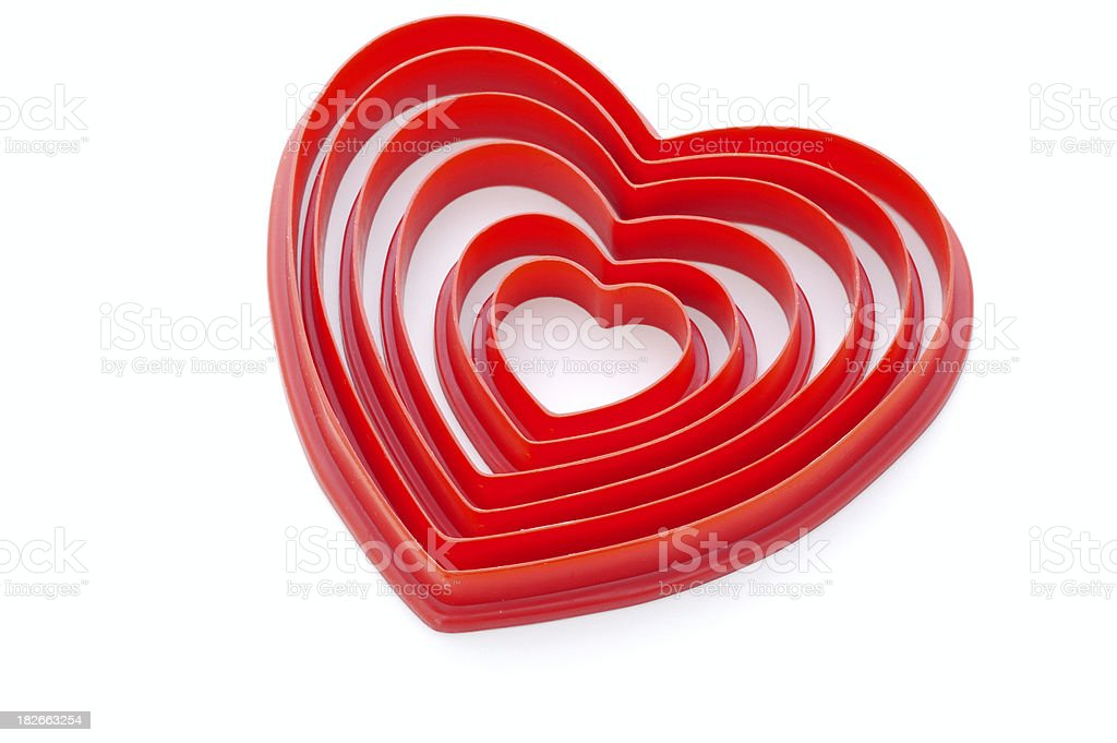 Nested Heart Cookie Cutters royalty-free stock photo