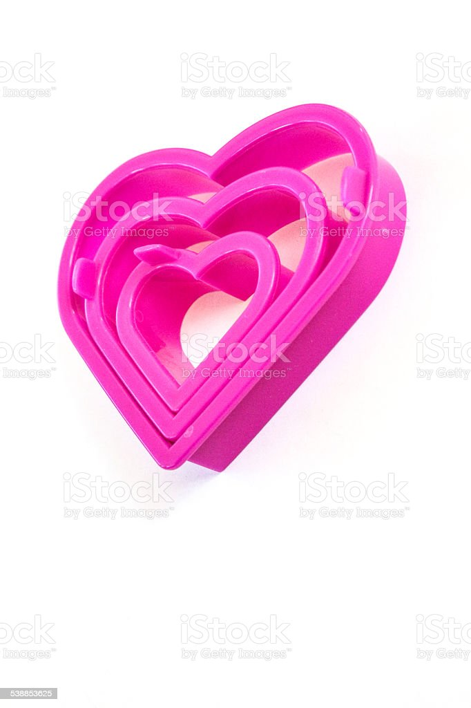 Nested Heart Cookie Cutters stock photo