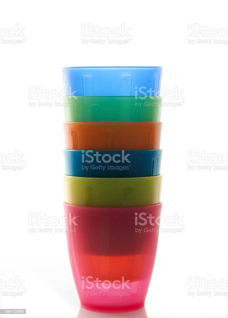 nested plastic cups royalty-free stock photo