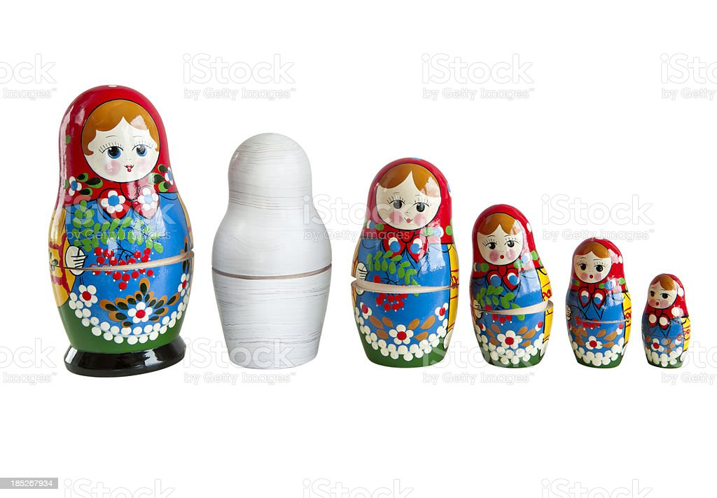 Nesting doll Matryoshka royalty-free stock photo