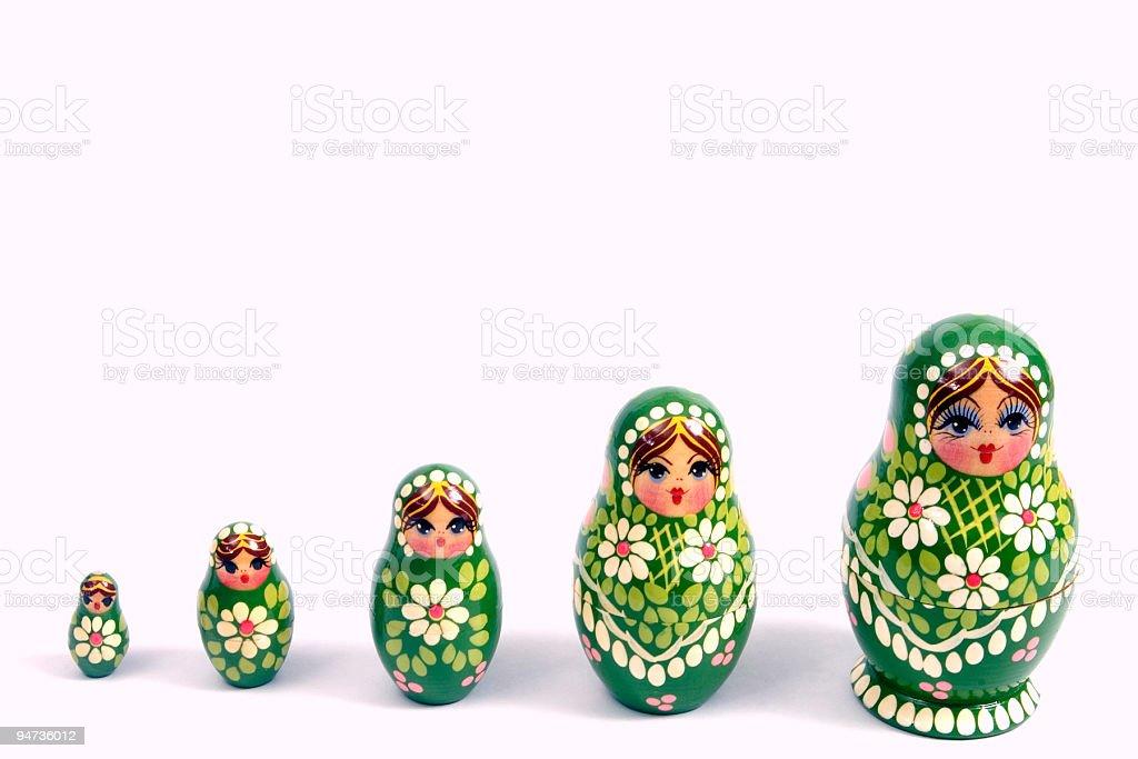 Nesting Dolls 2 royalty-free stock photo