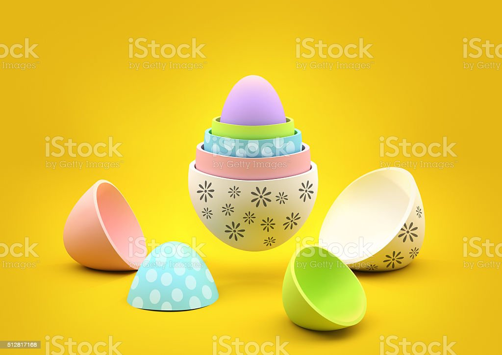 Nesting Easter Eggs stock photo