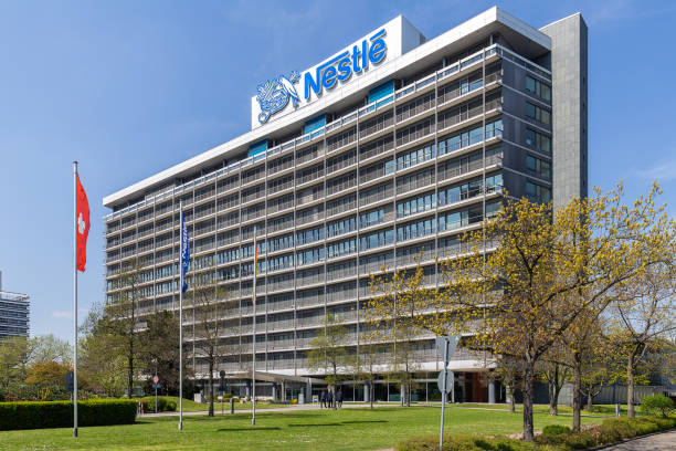 nestle headquarters in frankfurt - kit kat stock photos and pictures