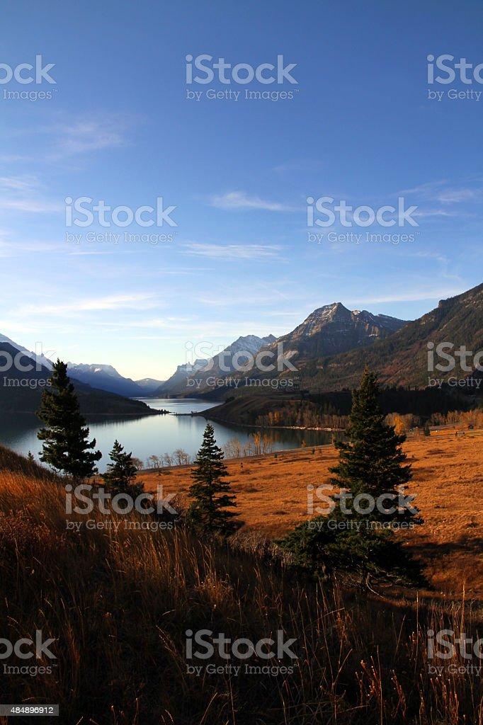 Nestled Lake stock photo