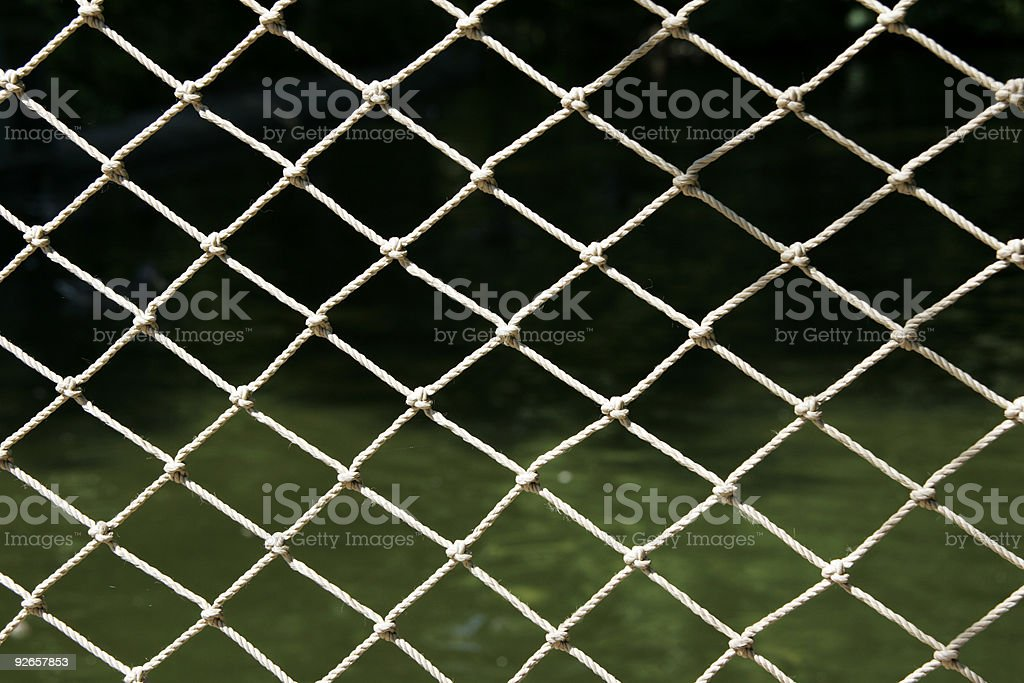 Net by the lake royalty-free stock photo