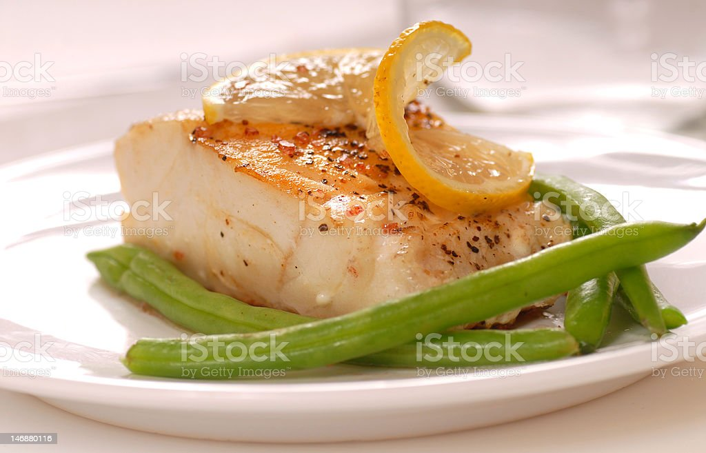 Cod filet stock photo