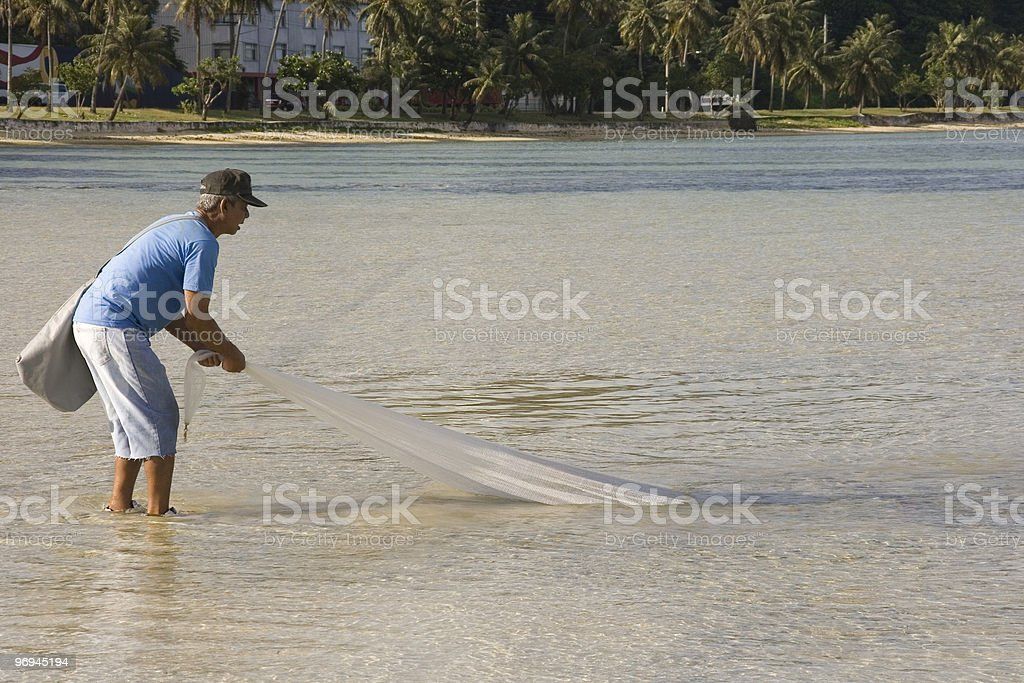 Net Fishing 1 royalty-free stock photo