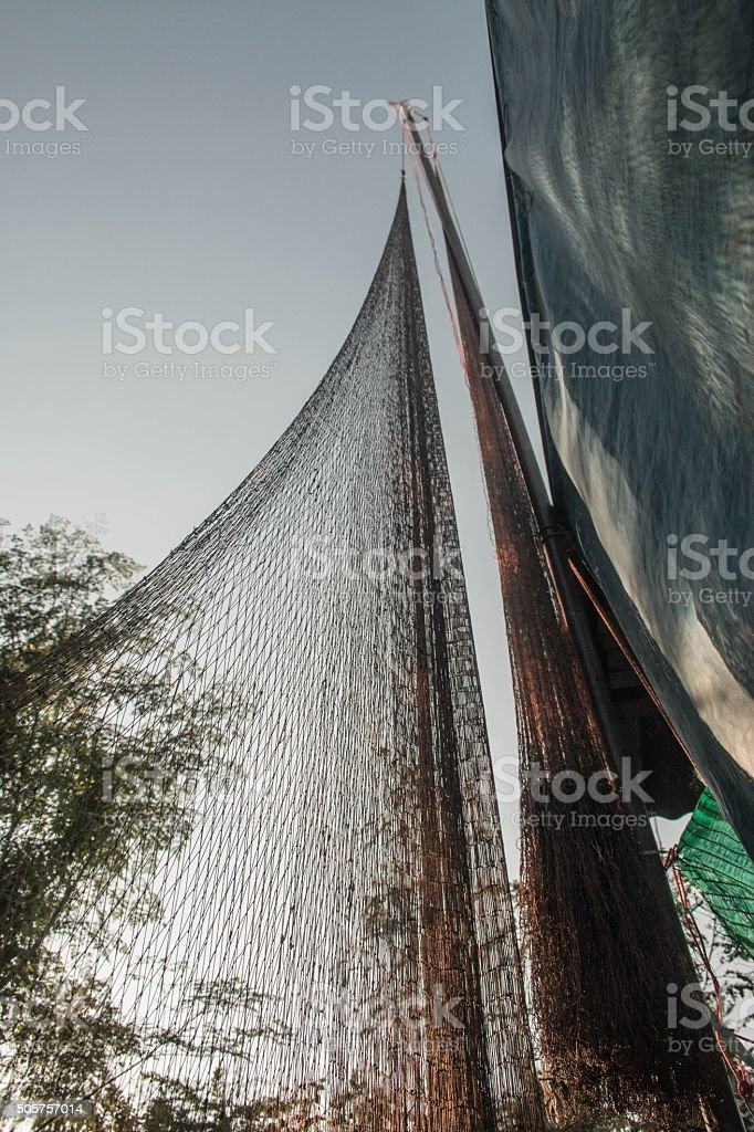 net for catch fishs stock photo