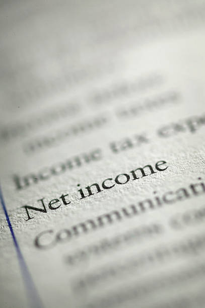 Net Income stock photo