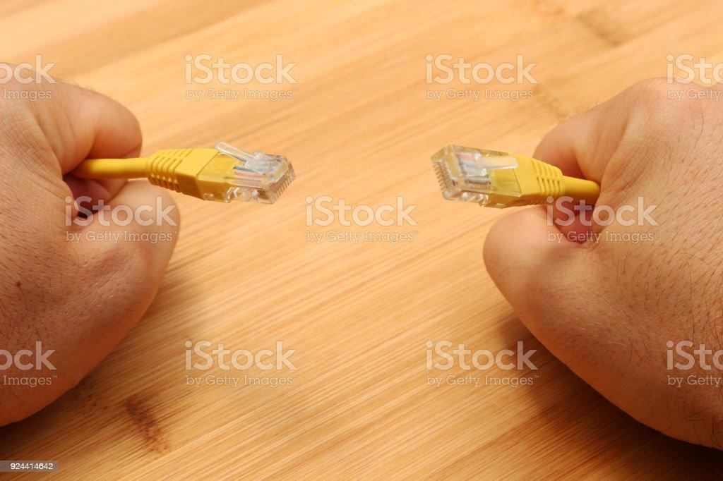 A net neutrality concept image stock photo