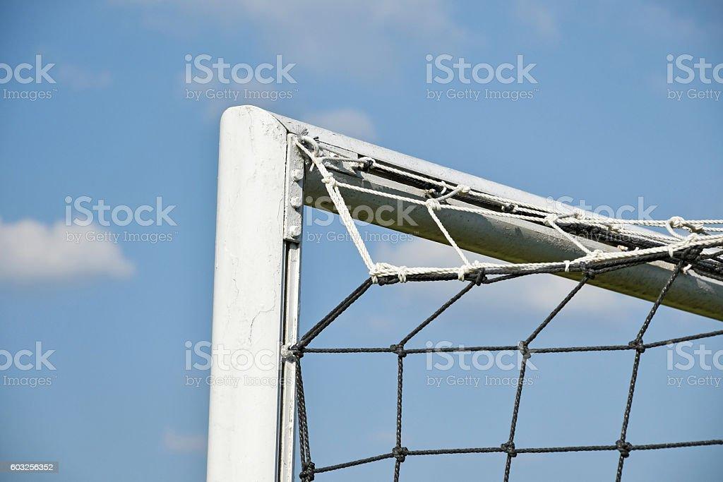 Net of the soccer goal stock photo