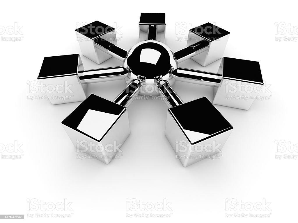 Net or Internet Symbol royalty-free stock photo