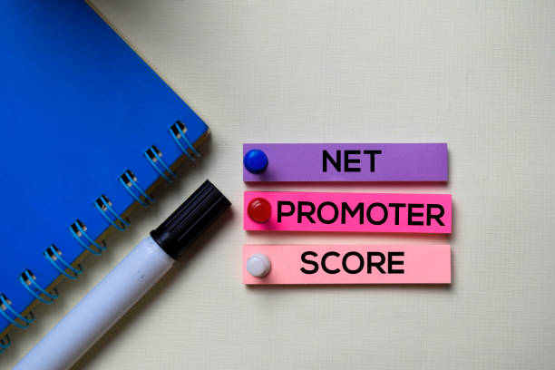 Net Promoter Score - NPS text on sticky notes isolated on office desk stock photo