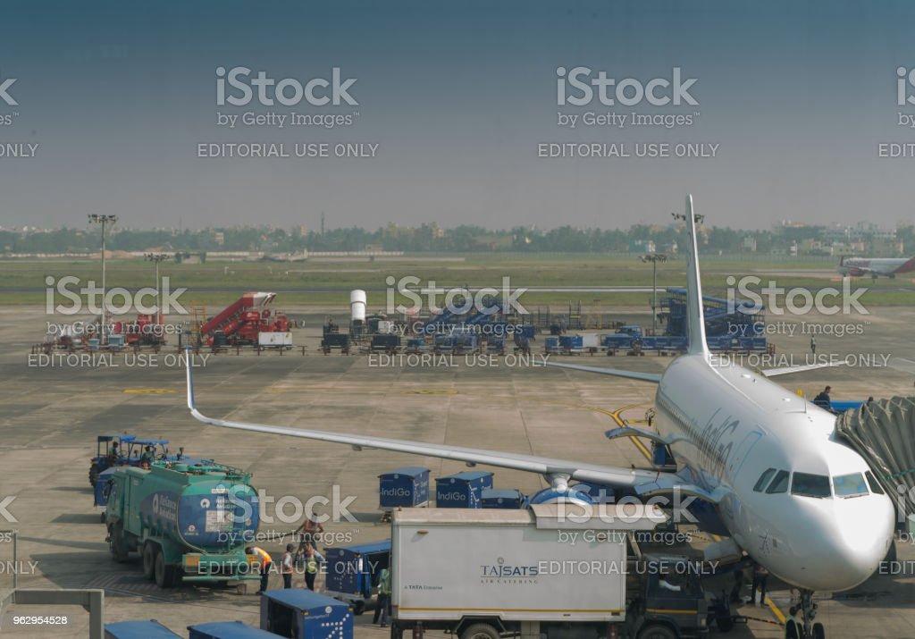 Netaji Subhash Chandra Bose airport, Kolkata stock photo