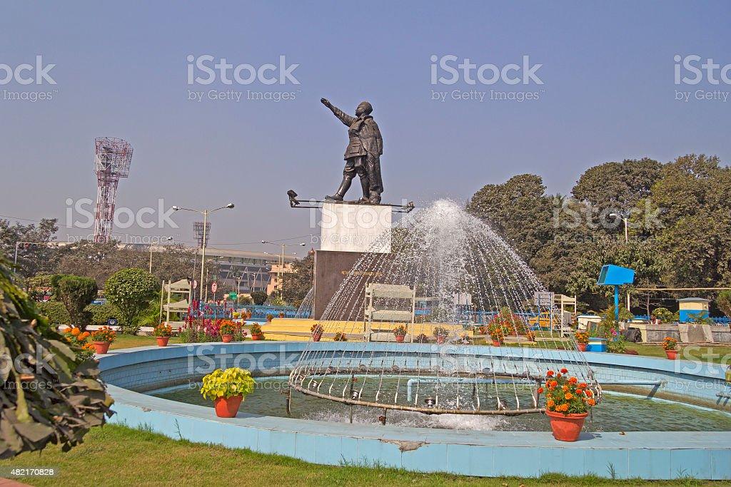 Netaji Subhash Chandra Bose and Netaji stadium stock photo