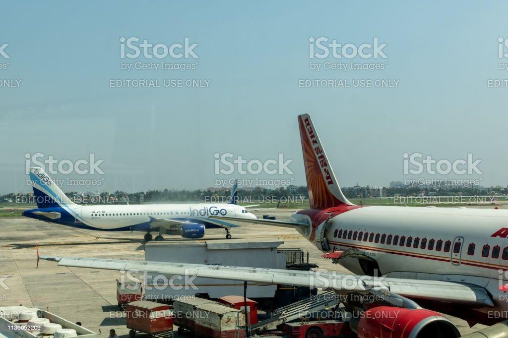 Netaji Subhash Chandra Bose International Airport, Kolkata Airport stock photo