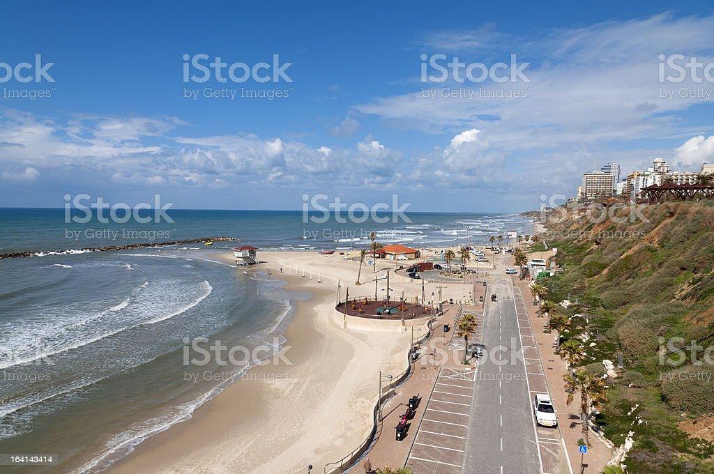 Netania Beach, Israel royalty-free stock photo