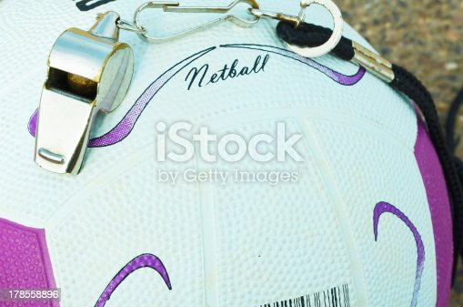 istock Netball and Whistle 178558896