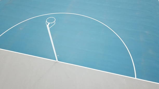 Netball courts - abstract Netball courts close up courtyard stock pictures, royalty-free photos & images