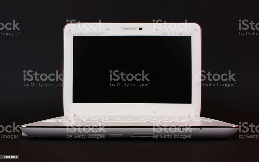 Netbook isolated stock photo