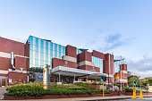 Entrance view of Netcare hospital in Rosebank centre, Johannesburg. Johannesburg is one of the forty largest metropolitan cities in the world, and the world's largest city that is not situated on a river, lakeside, or coastline. It is also the source of a large-scale gold and diamond trade, due to being situated in the mineral-rich Gauteng province.