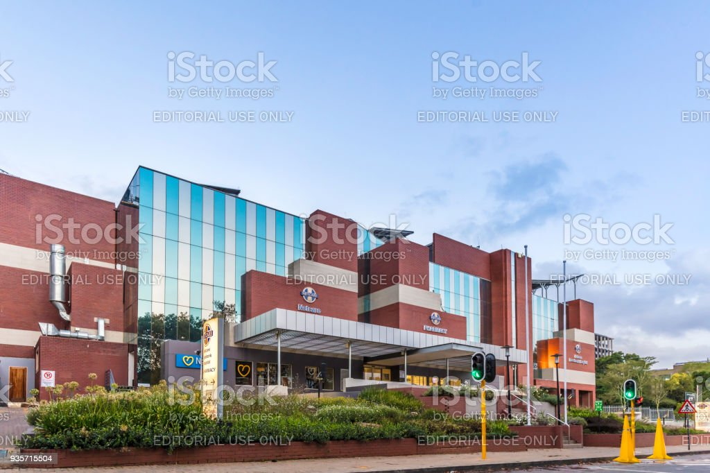 Netcare hospital in Rosebank, Johannesburg stock photo