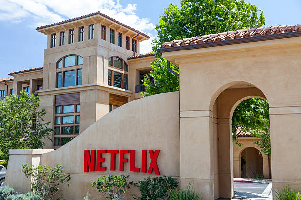 Netflix Headquarters stock photo