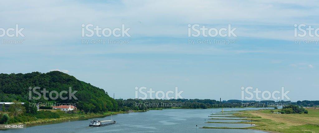 Nether Rhine near Renkum stock photo