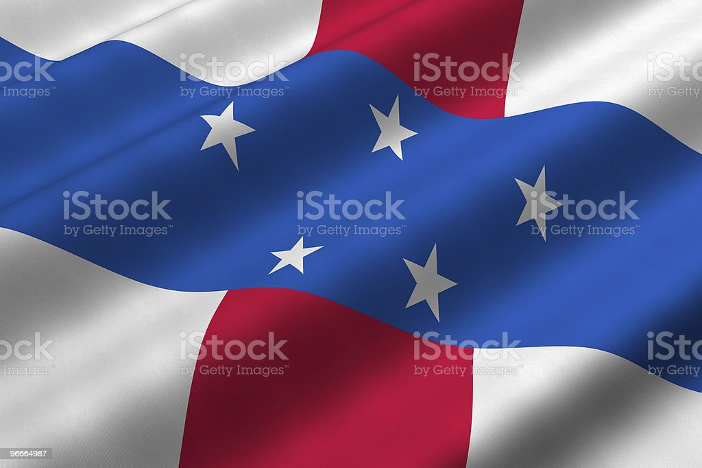 Netherlands Antilles Flag royalty-free stock photo