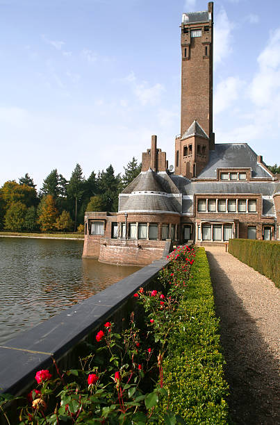 Netherlands art deco architecture stock photo