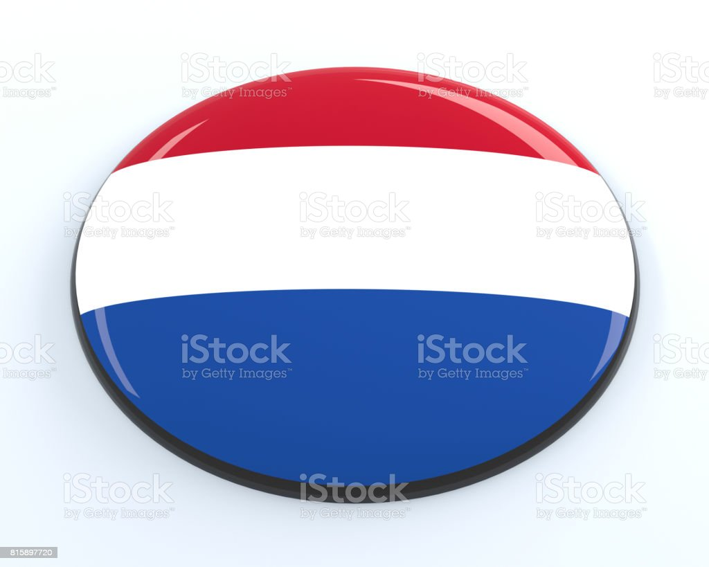 Netherlands badge stock photo