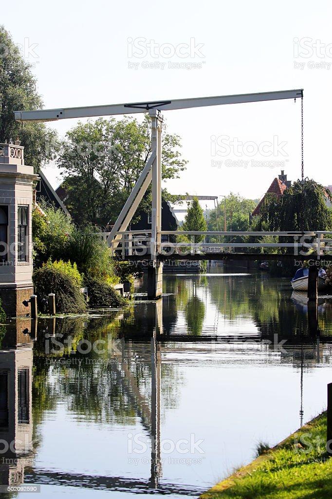 Netherlands: Drawbridge in Edam stock photo